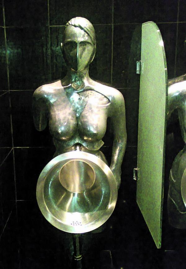 Ausgefallen: Die Toilette in der Bar El Faro auf Teneriffa