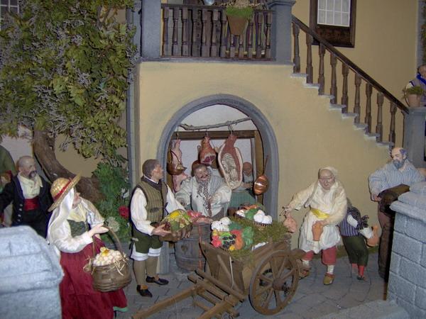 Weihnachtskrippe mit Motiven aus der kanarischen Architektur.