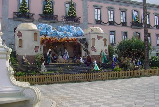Rathausplatz in La Orotava 2007 / 2008.