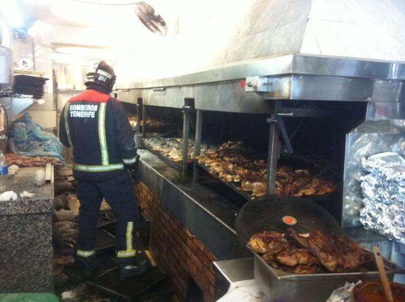 Das Mittagsgeschäft wurde durch den brandheißen Zwischenfall verdorben.