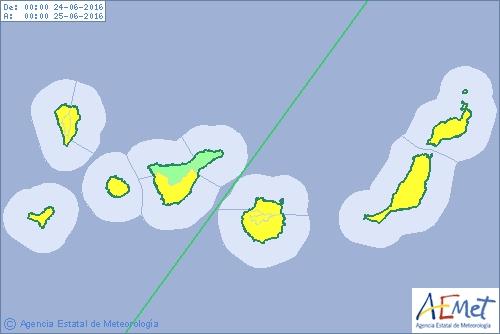 Wetterwarnung Gelb für die Kanarischen Inseln.