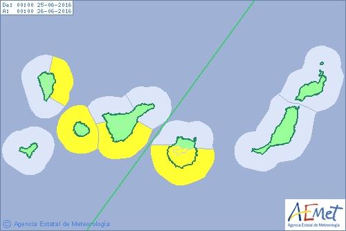 Wetterwarnung Gelb vor allem im Küstenbereich.