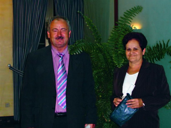 The President of Cumbres de Abona, Manuel Marrero, and his wife Clara Acuña