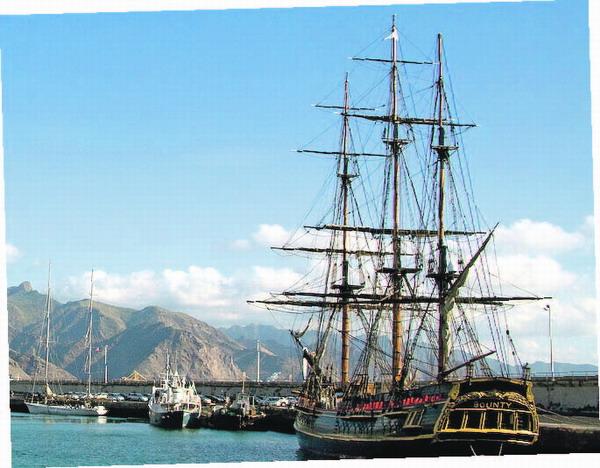 Die Crew der Bounty verbrachte Silvester auf Teneriffa