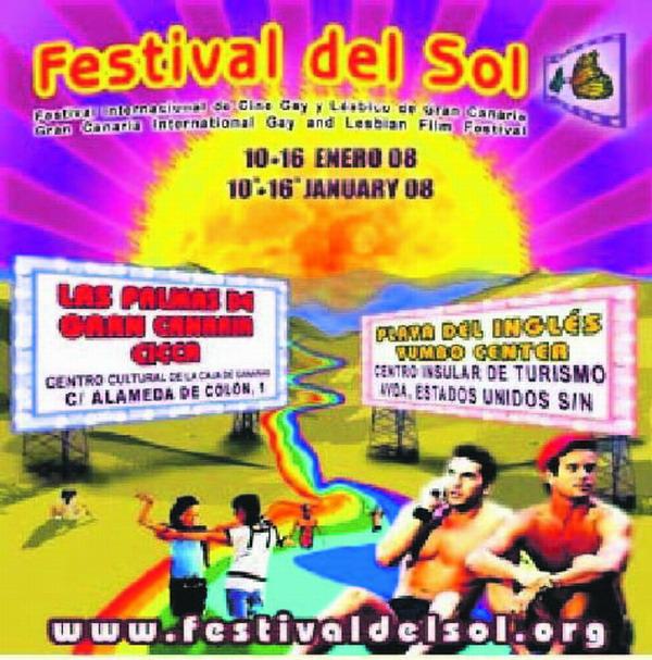 """Das Werbeplakat für das internationale Festival des Schwulen- und Lesbenfilms """"Festival del Sol"""""""