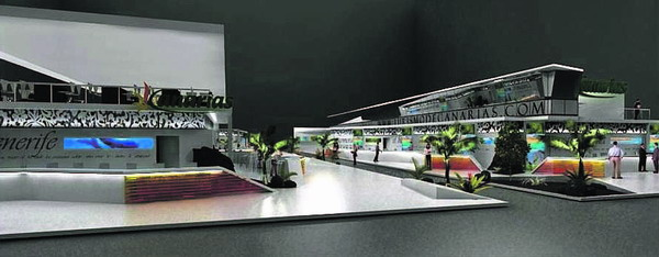 So soll die Ausstellungsfläche der Kanaren auf der Fitur 2008 aussehen
