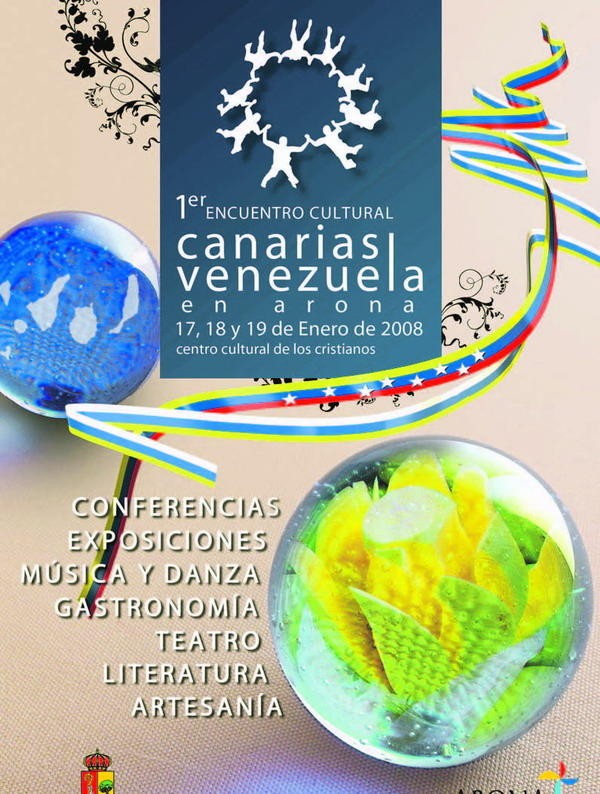 Das Werbeplakat zur ersten Ausgabe des Kulturtreffens Kanaren-Venezuela in Arona