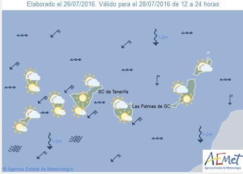 Wetterkarte für Donnerstnachmittag, 28. Juli 2016.