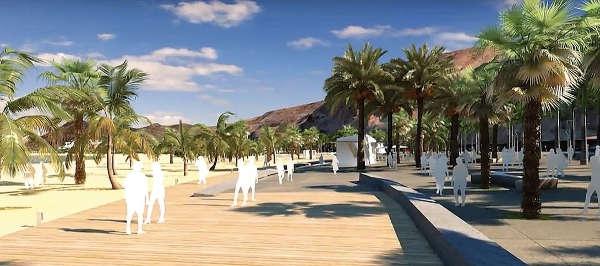 Eine echte Strandoase mit viel Grün soll an der Playa de Las Teresitas entstehen.