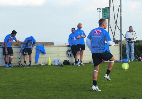 Die Spieler von Hertha BSC beim Training auf Teneriffa