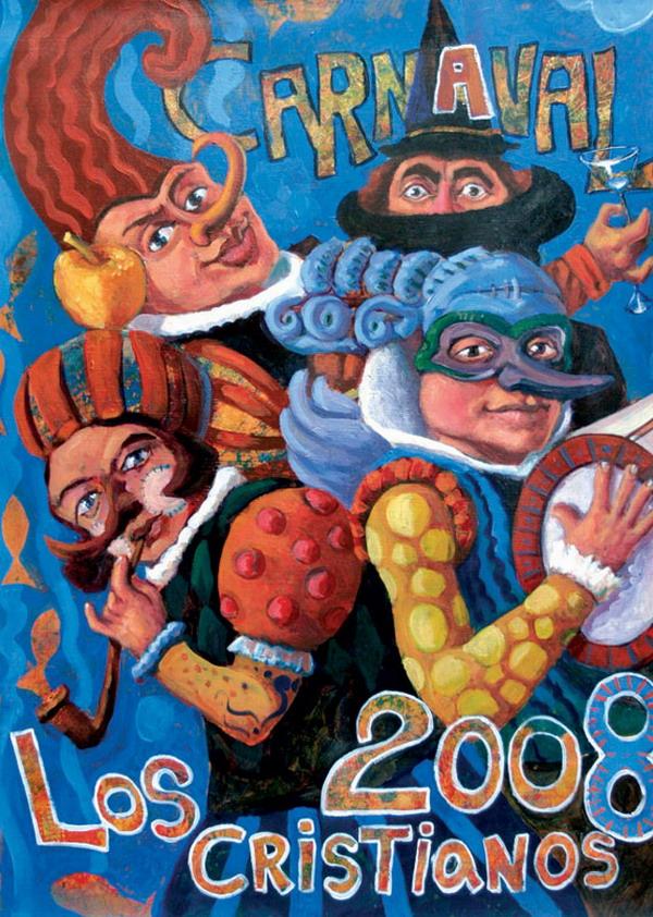 """Karneval 2008 in der Gemeinde Arona - Karnevalsmotto: """"Arona – ein tropischer Fächer"""""""