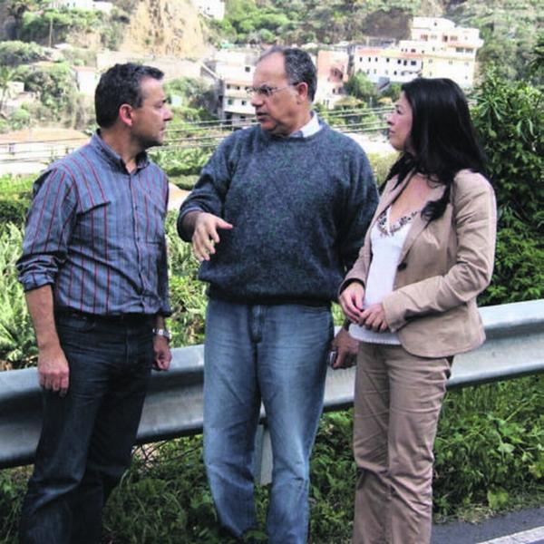 Paulino Rivero besuchte auch die von Unwetterschäden betroffenen Gebiete auf La Gomera