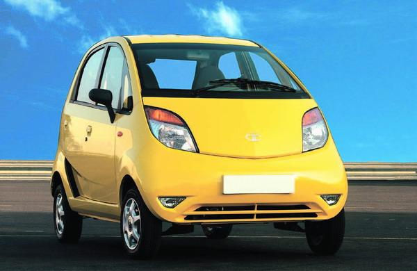 Die Luxusausführung des Tata Nano in gelb