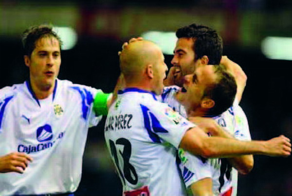 The second goal against Granada 74 was courtesy of Nino from an Óscar Pérez pass