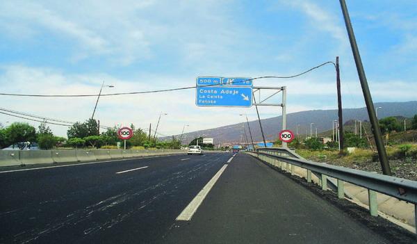 Der Autobahnabschnitt zwischen Fañabe und La Caleta soll verschönert werden