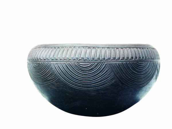 Replik eines Keramikgefäßes (vasija) nach einem Original der Phase IVb, dessen Überreste bei La Sabina (Villa de Mazo) gefunden wurden
