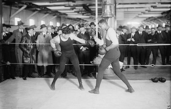 Jack Dempsey in the ring