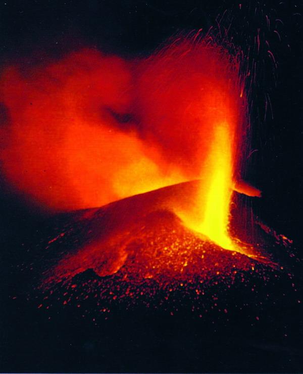 Ausbruch des Teneguía im Jahr 1971 an der Südspitze bei Fuencaliente