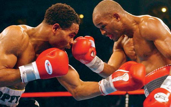 Bernard Hopkins (on the right) - one of the great middleweights of our time