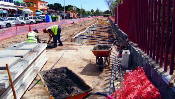 Die Bauarbeiten zur Wiederherstellung von Costa del Silencio schreiten voran