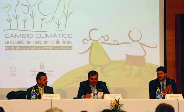 Die Eröffnung der ersten Schülertagung zum Klimawandel auf La Palma