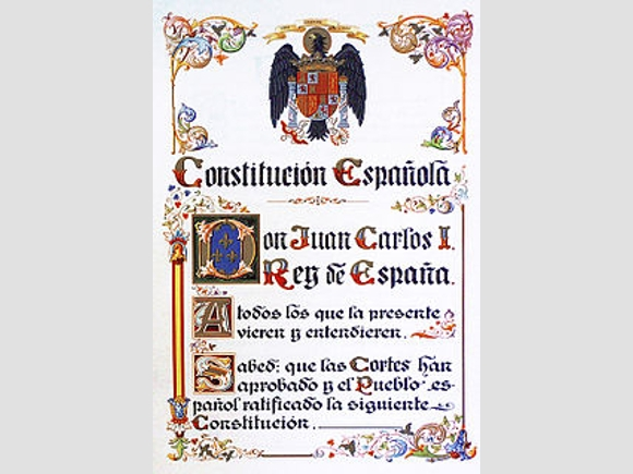 Faksimile der Verfassung von 1978.