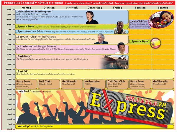 Radio-Programm ExpressFM