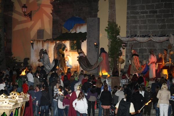 Die spektakuläre Inszenierung der Weihnachtsgeschichte ist in Garachico Tradition.