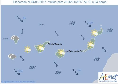 Wettervorschau für Freitag, 6. Januar 2017.