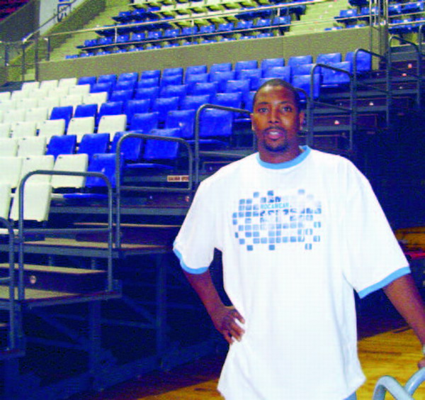 Bruesa's Bernard Hopkins during his time with the Tenerife side