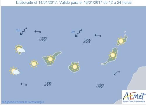 Wettervorschau für Montag, 16. Januar 2017.