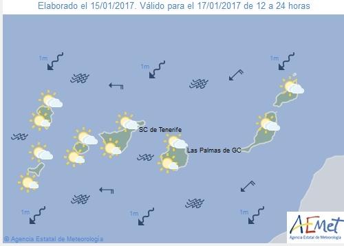 Wettervorschau für Dienstag, 17. Januar 2017.
