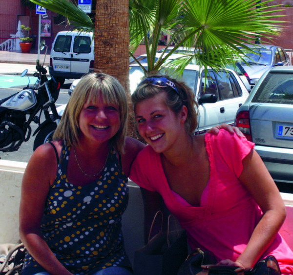 Lyn and Casey Taylor, originally from East London but living in Los Cristianos.