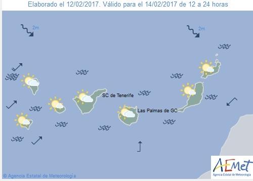 Wettervorschau für Dienstag, 14. Februar 2017.