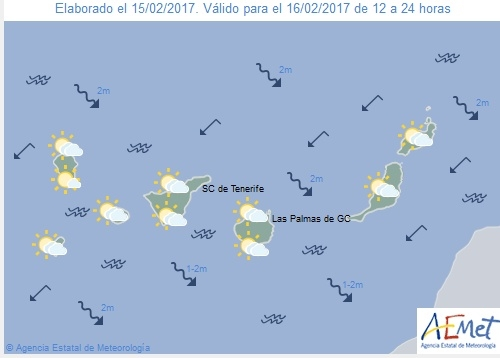 Wettervorschau für Donnerstag, 16. Februar 2017.