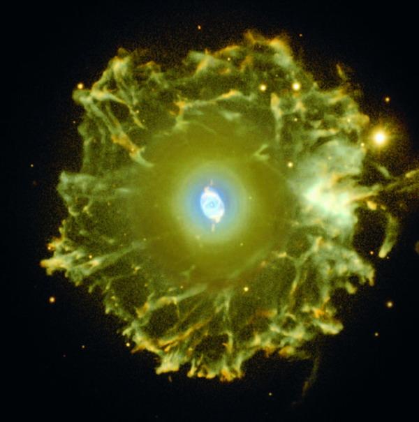 Aufnahme einer Gas- und Staubwolke, die durch einen sterbenden Stern entsteht. (Isaac Newton Group of Telescopes, Spain)