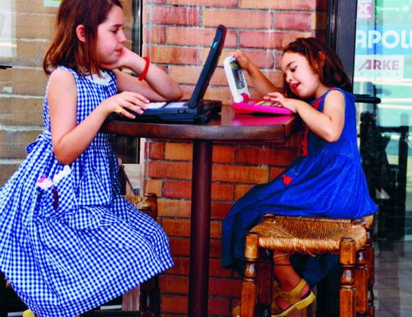 Selbst die Kleinsten lassen sich von der Faszination des Computers anstecken