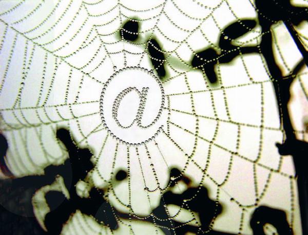 Ein Foto mit Symbolkraft: Gefangen im Inter-Net(z)