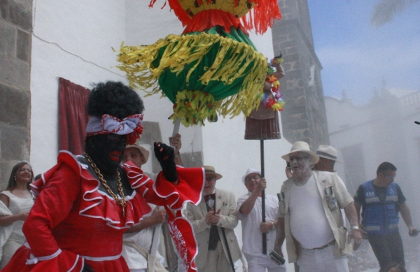 Die Indianer mit ihrem weißen Puder waren auf La Palma losgelassen.