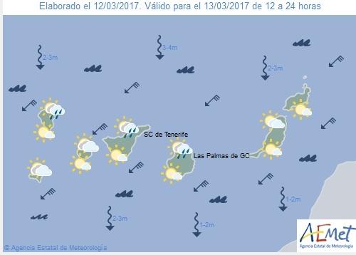 Wettervorschau für Montag, 13. März 2017.