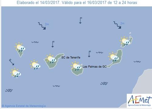 Wettervorschau für Donnerstag, 16. März 2017.