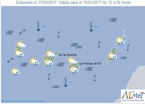 Wettervorschau für Sonntag, 19. März 2017.