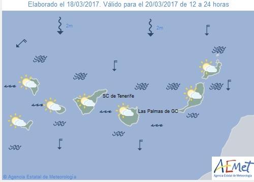Wettervorschau für Montag, 20. März 2017.