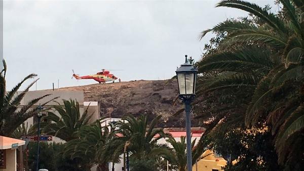 Per Hubschrauber musste die Wandergruppe aus dem Barranco geholt werden.