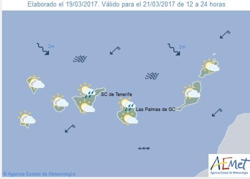 Wettervorschau für Dienstag, 21. März 2017.