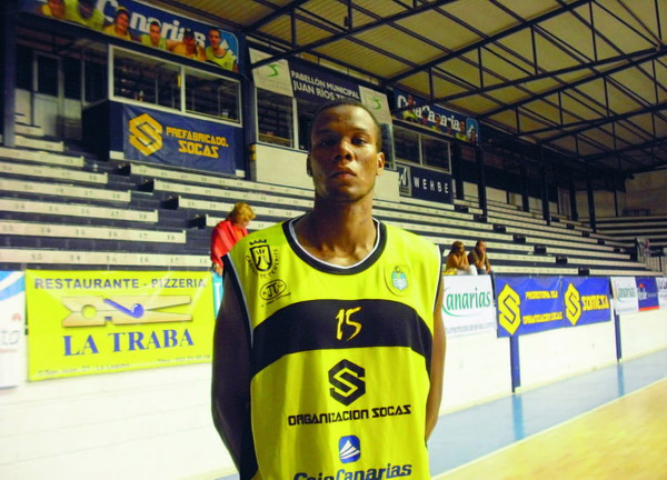 Darrell Harris, the new American signing for Socas Canarias