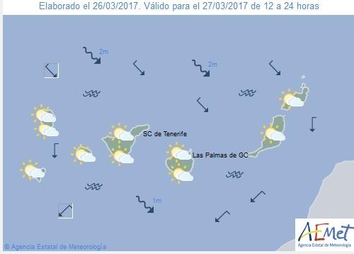 Wettervorschau für Montag, 27. März 2017.