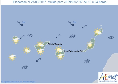 Wettervorschau für Mittwoch, 29. März 2017.