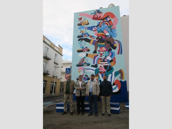 Umwelterziehung per Graffiti-Kunst in Tazacorte.
