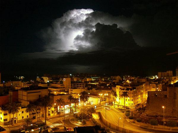 Unwetter über Las Palmas de Gran Canaria